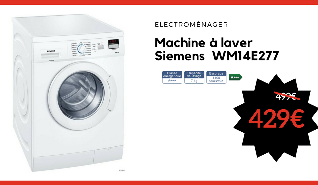 machine laver siemens wm14e277 inter distribution. Black Bedroom Furniture Sets. Home Design Ideas